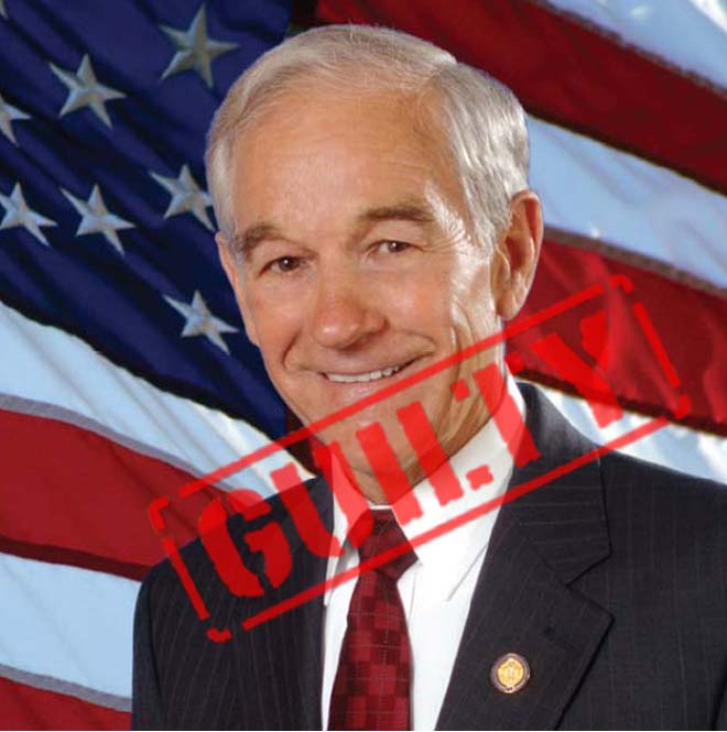 Picture of Ron Paul labeled Guilty of RDNH