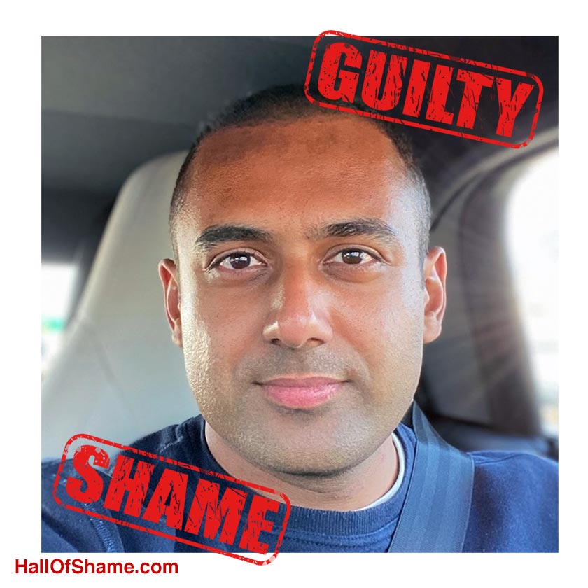 Twitter profile pic of Sahil Gupta, Spase.io, Guilty of RDNH